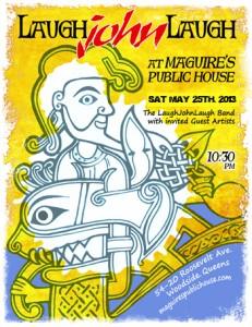 Poster of Show - John Munnelly LaughJOhnLaugh Band Celtic Design